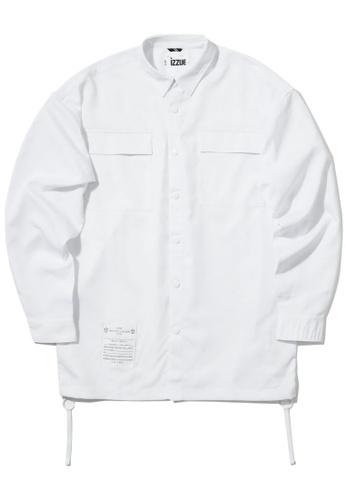izzue white Twin flap pocket shirt 42827AADAAC1CEGS_1