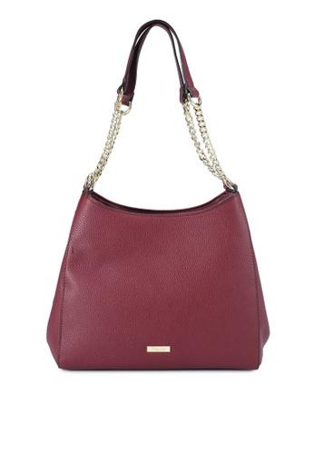 Mel&Co red Faux Leather Double Handle Bag 80C60AC722D276GS_1
