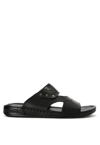 Mendrez black Kervin Sandals & Flip Flops ME992SH0JAREPH_1