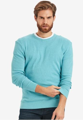 LC Waikiki green Thin Knitwear Sweater 7361DAADC0BA77GS_1