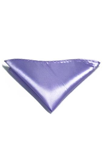 Splice Cufflinks Lustrous Series Violet Polyester Pocket Square SP744AC82KTLSG_1