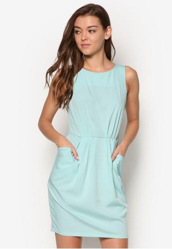 褶飾口袋連esprit手錶專櫃身裙, 服飾, 洋裝