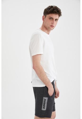 DeFacto grey Slim Fit Sweatshirt Shorts CAAADAA14F1701GS_1