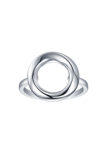 Vedantti white Vedantti 18K The Circle Solid Ring in White Gold 7EC45AC8D6280BGS_1