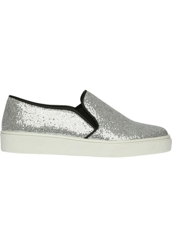 paperplanes silver SNRD-132 Glitter Fabric Tall Up Casual Slip-Ons Shoes US  Women