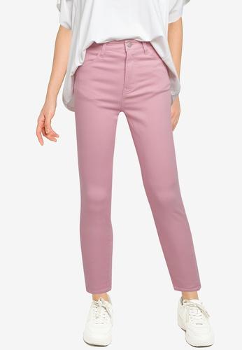 LOWRYS FARM pink Cropped Skinny Jeans 9BBE0AA4C35604GS_1