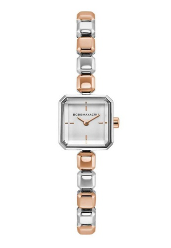 BCBG silver BCBGMAXAZRIA Silver and Rose Gold Stainless Steel Watch B3902ACB065F14GS_1