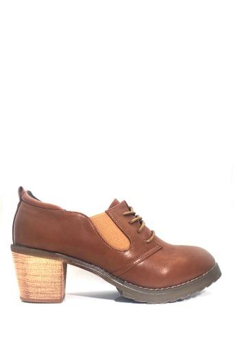 Twenty Eight Shoes 褐色 深鞋口中跟牛津鞋 VL8281 B8D56SH0FD8D74GS_1
