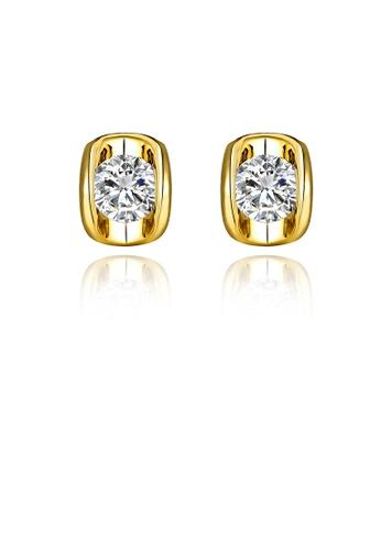 Glamorousky white Fashion Elegant Plated Gold Geometric Cubic Zirconia Stud Earrings 4DE1DAC6ED8926GS_1