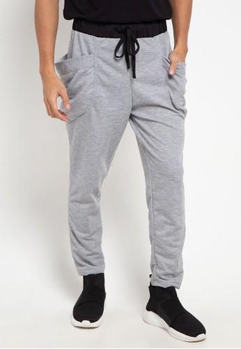 magnificents grey Sweatpants With Pocket DE1FFAA8A0FE1EGS_1