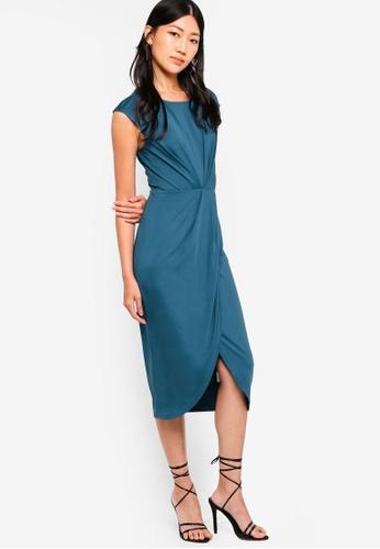 ZALORA green Pleated Midi Dress 94C11AA98D2247GS_1