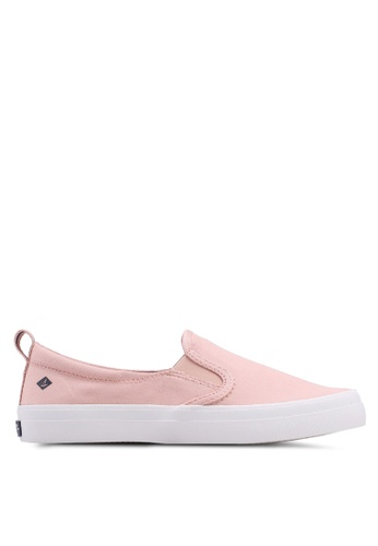 Sperry pink A8 Crest Twin Gore Slip Ons 1F232SH518C166GS_1