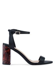 40387d19dea Wide Fit Black Shimmer Block Heels 25EECSH000FEA1GS 1