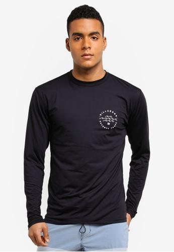 Billabong black Planet Vibes Surf Long Sleeve Shirt BI783AA0SXI8MY_1