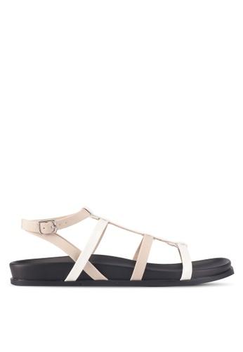 ZALORA beige Strappy Sandals 32FD8SHDC3BB33GS_1