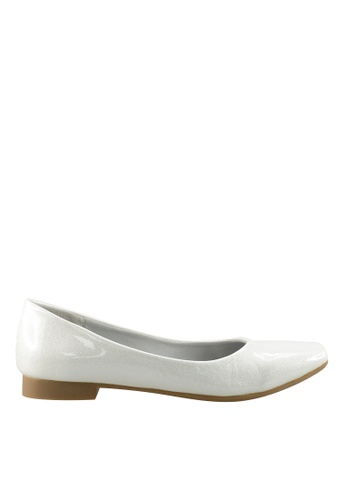 Footspot white FOOTSPOT - Square Toe Flats 5A681SHCF2534DGS_1