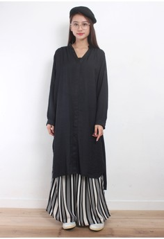 Henley Neck Oversized Dress