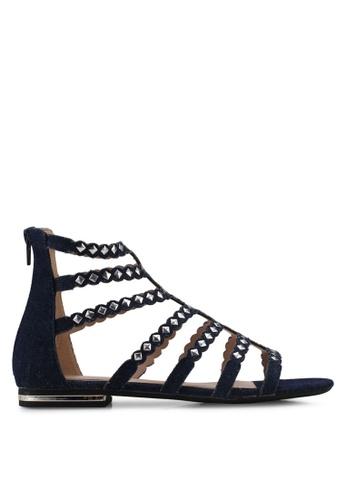 Nose multi Studded Ankle Cuff Heel Sandals EF4EFSHECECCE0GS_1