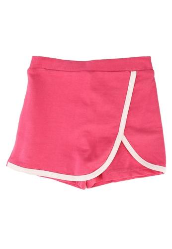 FOX Kids & Baby pink Baby Girl Contrast Trim Jersey Skort A4629KA469937AGS_1
