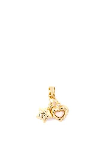 Lavaliere Jewelry Shop gold Heart with Star Pendant LA066AC61RLQPH_1