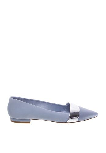 SCHUTZ blue SCHUTZ Flat Shoes - MARTINA (JEANS/PRATA) 5C166SH8790360GS_1