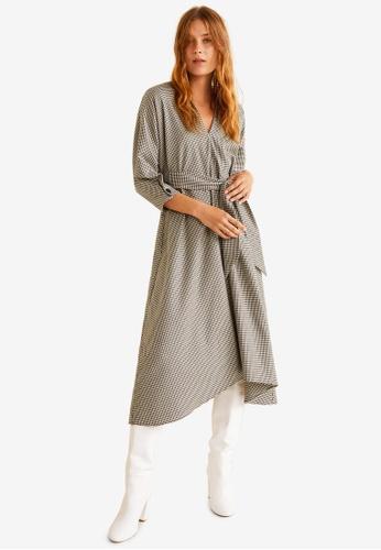Mango brown Gingham Check Dress A97BCAAF873D75GS_1