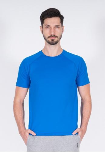 AMNIG blue Amnig Men Training Raglan T-Shirt (Blue) 7BA93AAECC44F2GS_1
