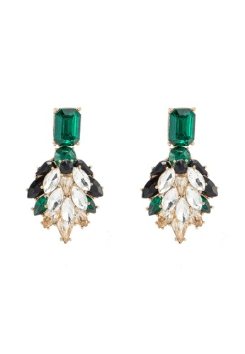ALDO 綠色 鑽飾耳環 12AD0AC0E32051GS_1