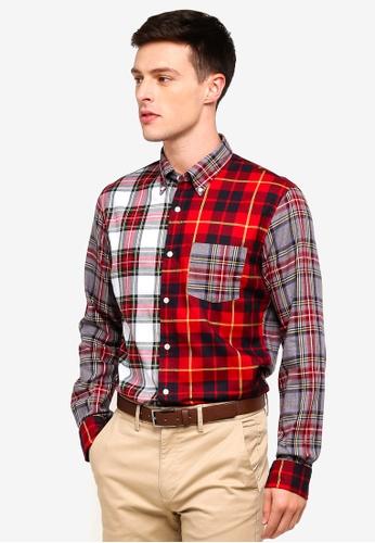 Brooks Brothers 多色 長袖格紋襯衫 02150AA43CA451GS_1