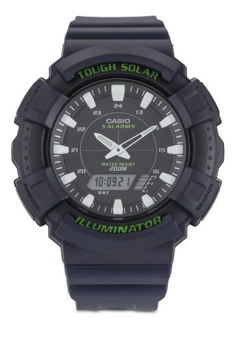 Casio Solar 雙顯示樹脂圓錶尖沙咀 esprit outlet, 錶類, 飾品配件