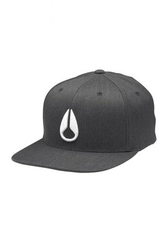 Nixon multi Nixon - Deep Down FF Athletic Fit Hat - Black/White (C10751328) NI855AC22RXDSG_1