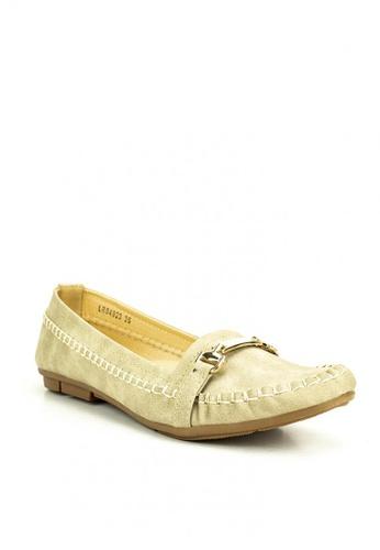 Mario D' boro Runway beige Abha Flat Shoes 95772SHA18EFD7GS_1