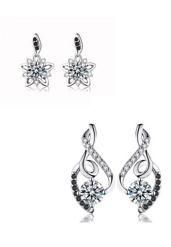 A-Excellence white Premium Elegant White Silver Earring Set 1BF20AC8D8514BGS_1