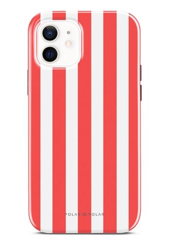 Polar Polar red Scarlet Stripe Dual-Layer Tough Case Glossy For iPhone 12 Pro / iPhone 12 4E223AC532EC11GS_1