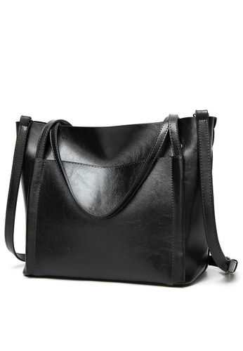 Halo black Vintage Three Way Crossbody Bag B97D5ACA33BCC6GS_1