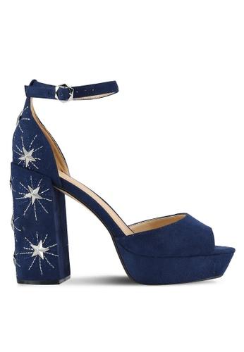Something Borrowed navy Star Studded Embellished Heels BDF0DSH3E16B8BGS_1