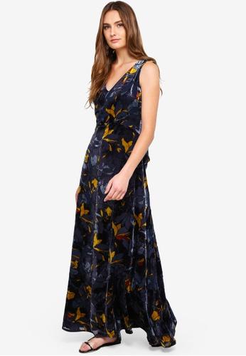 d60ea8b960 Buy French Connection Aventine Velvet V Neck Maxi Dress Online on ZALORA  Singapore