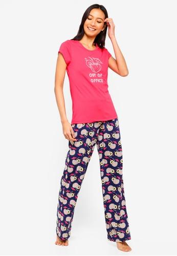 7b70fc4756 Buy South Beach Coconut Out Of Office Slogan Pajamas Set Online on ZALORA  Singapore