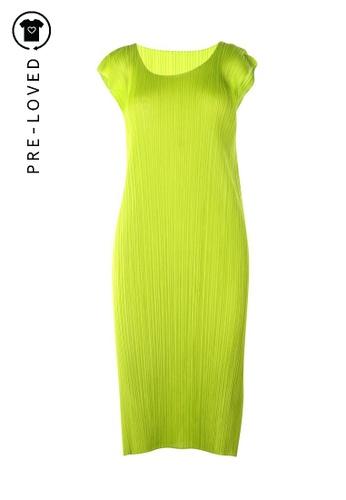 Pleats Please green Pre-Loved pleats please Green Pleated Dress 01EDCAAC846A39GS_1
