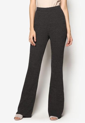 羅紋高腰寬管長褲, 服飾, esprit 高雄長褲及內搭褲