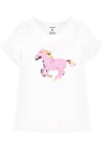 Carter's white CARTER'S Girl White Unicorn Tee 18508KA9CE8B4BGS_1
