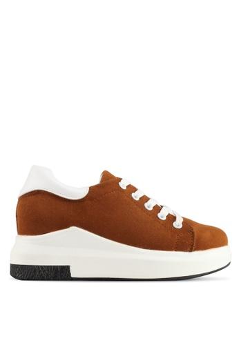 Spiffy brown Korean Trendy Design Sneakers E5992SHC09654EGS_1