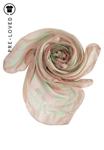 ALEXANDER MCQUEEN pink Pre-Loved alexander mcqueen Pale Pink Skull Print Scarf. 4A780ACD0A7B45GS_1