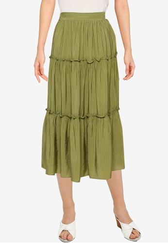 URBAN REVIVO green Casual Skirt B69D0AAF3FACEFGS_1