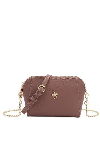 Swiss Polo pink Swiss Polo Ladies Chain Sling Bag EA236AC5F300C3GS_1