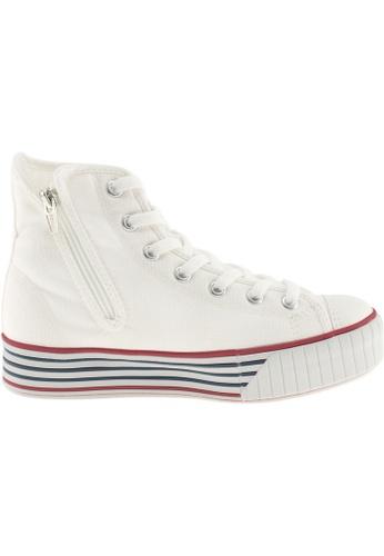 Maxstar Maxstar Women's C30 7 Holes Zipper Canvas High Top Platform Sneakers US Women Size MA168SH42AZTHK_1