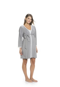 e848d8bdb6c71 30% OFF Mayarya Lace Robe in Grey S$ 106.00 NOW S$ 74.00 Sizes XS/S M/L