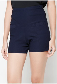 Navy Blue High Waist Shorts