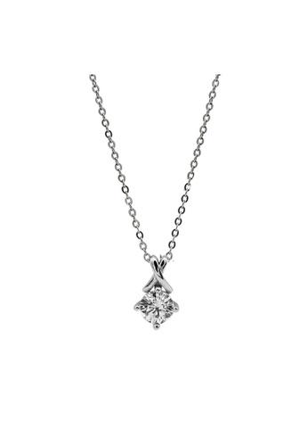 LYCKA silver LDR1279 S925 Silver Classy Sparkling Necklace FE1F2AC647B3E6GS_1