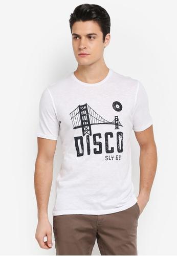 Sisley 白色 DISCO與吊橋T恤 679F5AAEFE18E5GS_1